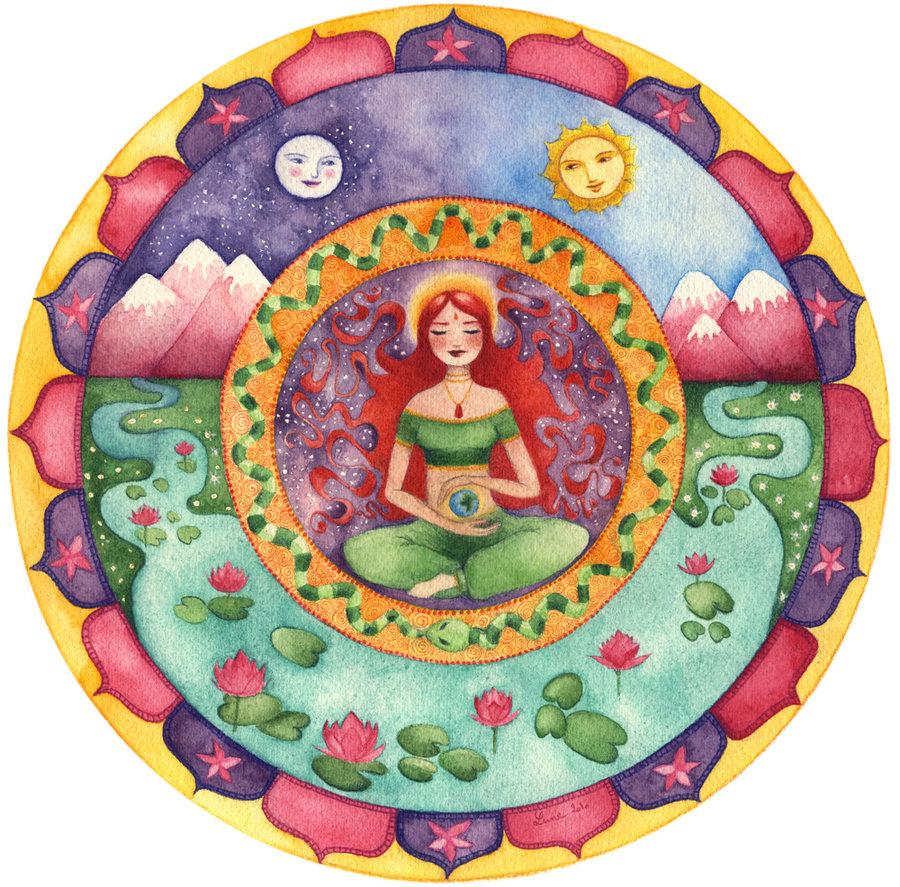 Creatrix goddess mandala by neyrelle 1